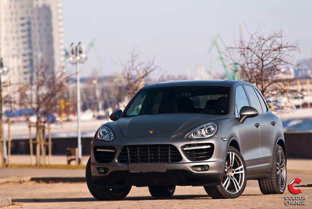Porsche cayenne turbo – matte anthracite