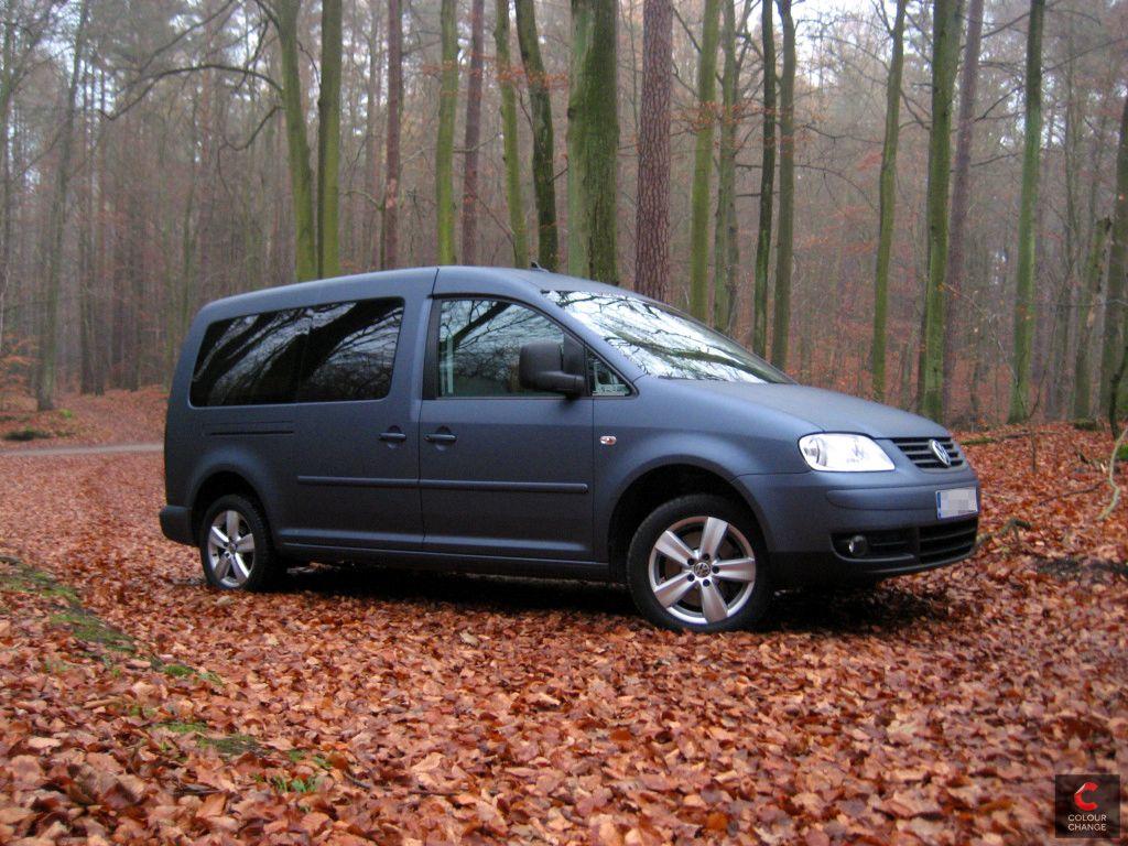 VW caddy – matte steel blue