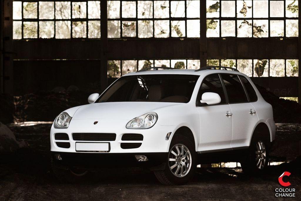 Porsche cayenne – matte white