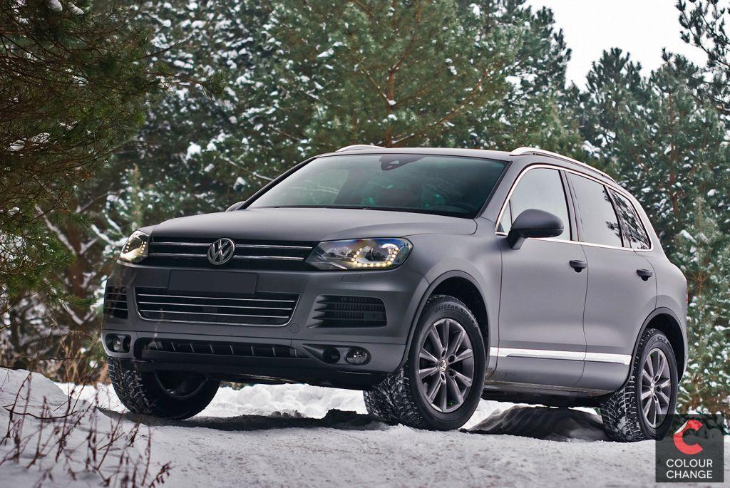 VW touareg – matte anthracite